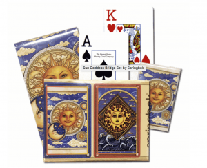 Sun Goddess Bridge Set - Gifts for Card Players
