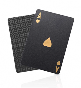 Solar Matrix Black Playing Cards - Gifts for Card Players