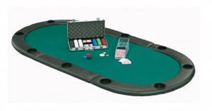 Tri-fold poker table top