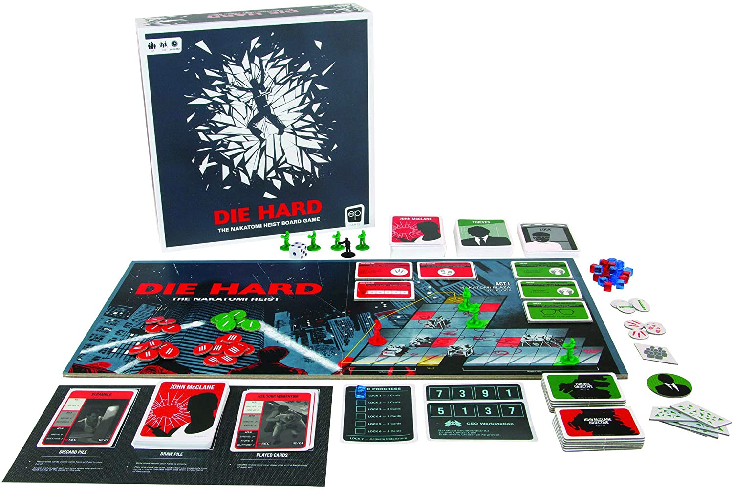 Die Hard Board Game Opened - Gifts for Card Players