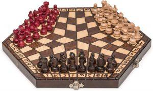 3 way chess board