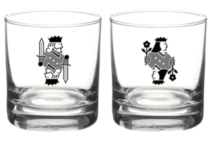 Barclay King and Queen Rocks Glasses- Set of 2