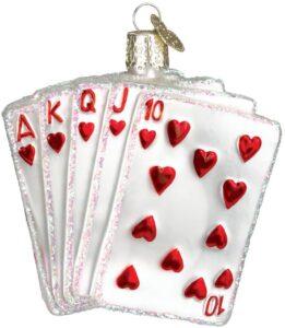 Poker Hand ornament
