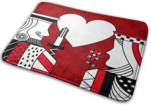 King Queen of hearts bath mat